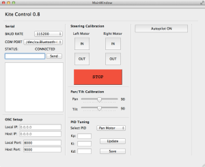 Kite control software gui (made with Qt)